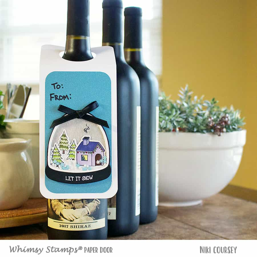 Paper Door: A Holiday Wine Bottle Shaker Tag
