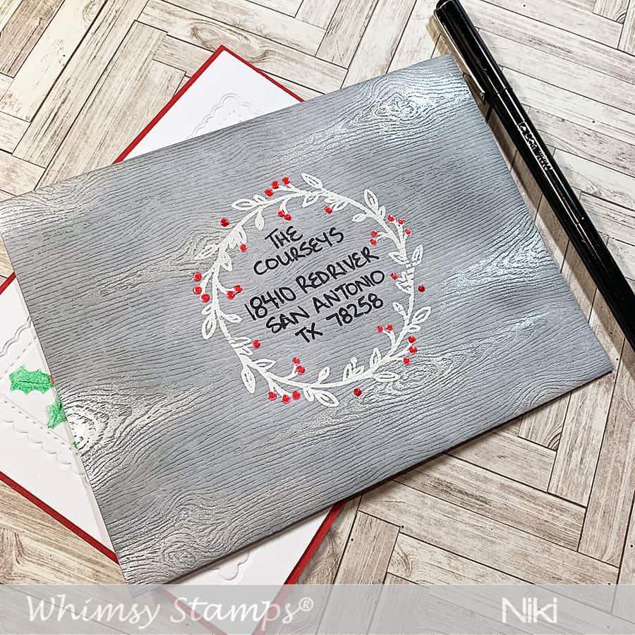 Weathered Wood Holiday Envelopes