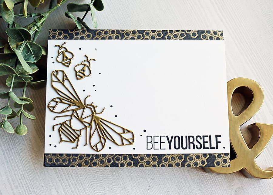 Bee Yourself Honeycomb Card