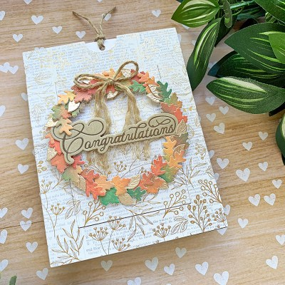 Autumn Wreath Slider Card
