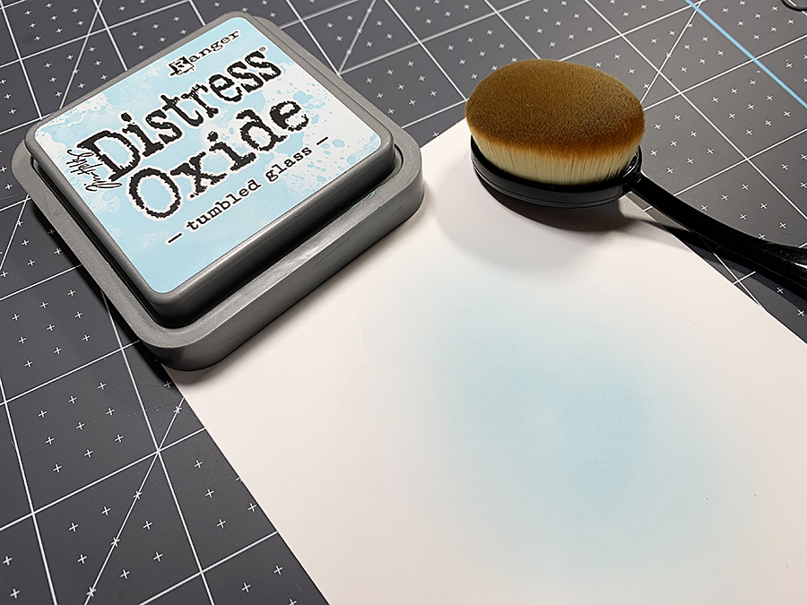 Blending with Distress Oxide Ink.