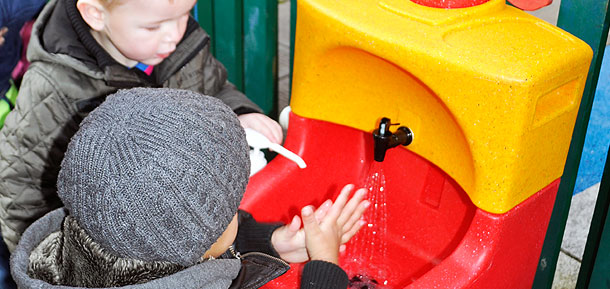 KiddiSynk portable sinks for farm visits