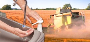 Portable hand wash sinks for farms and workers