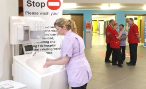 Mobile hand wash units for medical situations