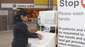Infection control measures in hospital include hand washing