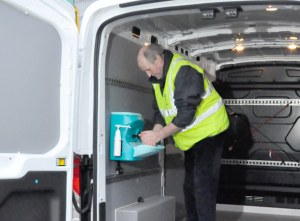 Mobile sinks for local authority van drivers