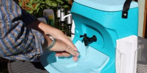 Portable sinks for mobile caterers at CIEH conference