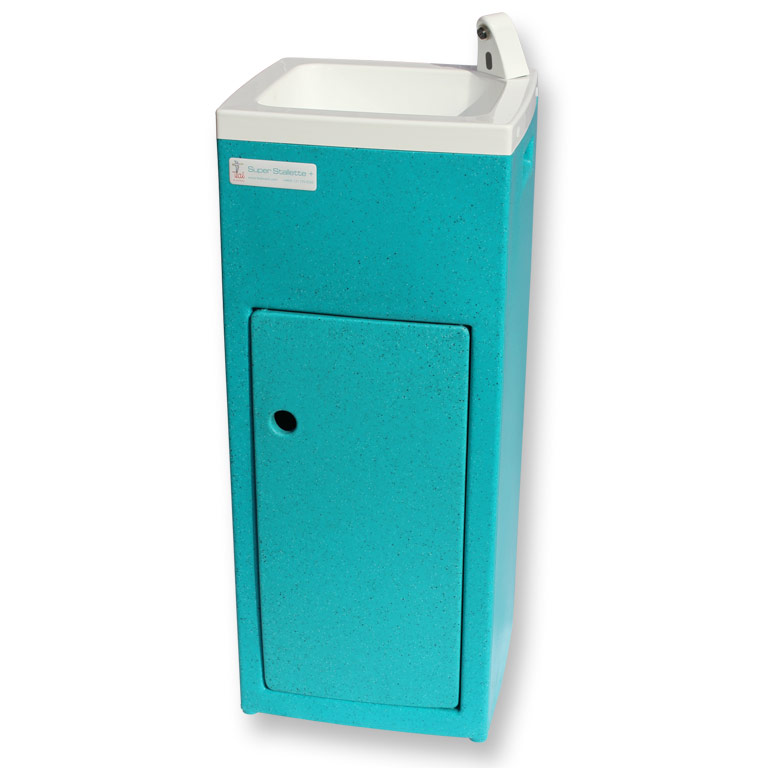 The Teal Stallette portable handwashing basin