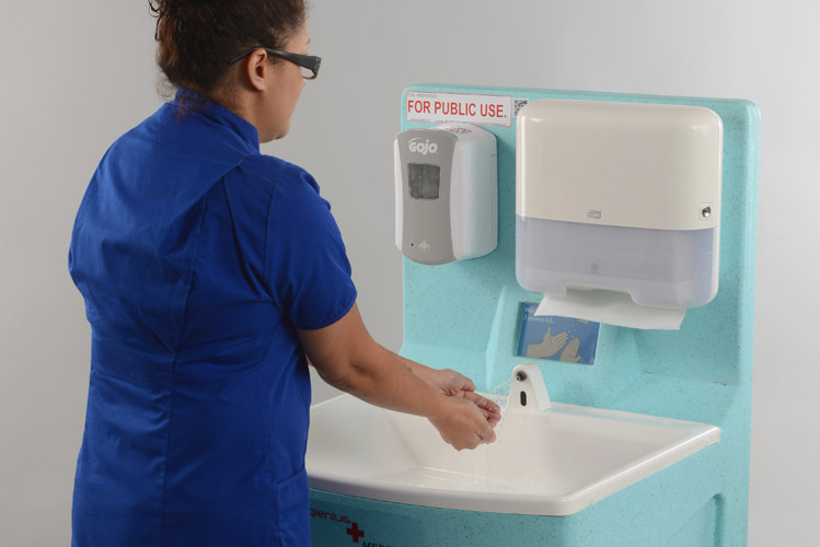Hand washing with soap and water to control norovirus