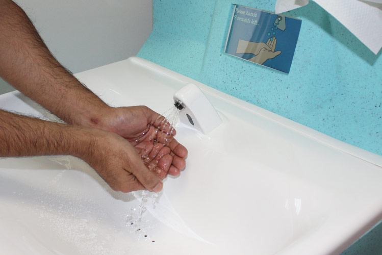 Washing hands with soap and water is the best way