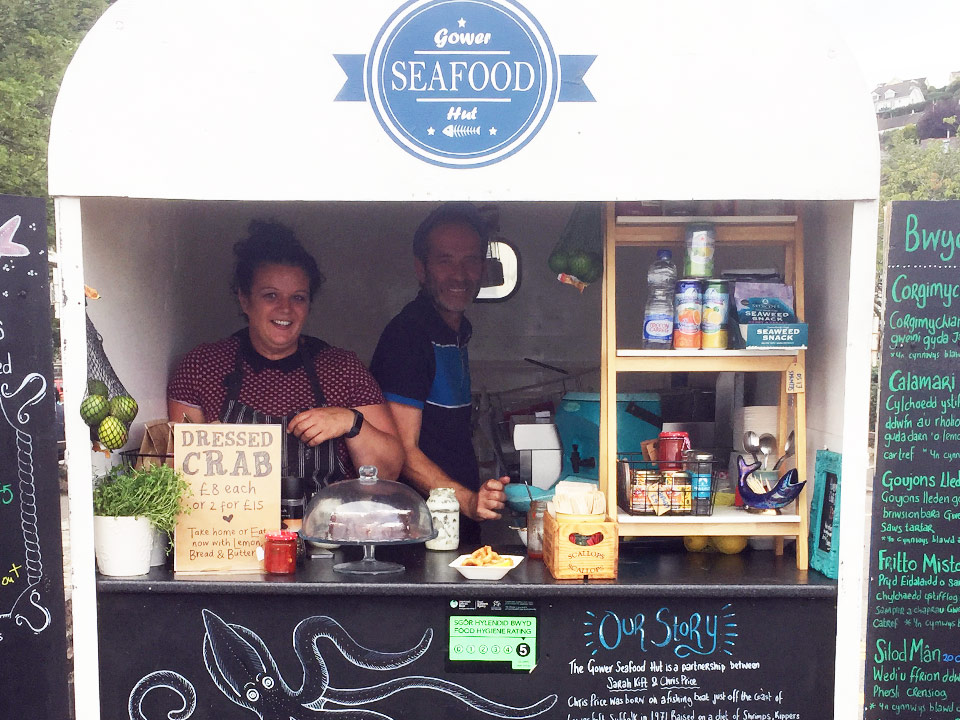 Five star hygiene rating for Gower Seafood Hut