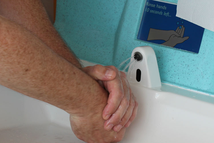 Handwashing is essential after going to the toilet