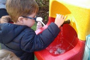 Honey Pot Nurseries teach children hand washing