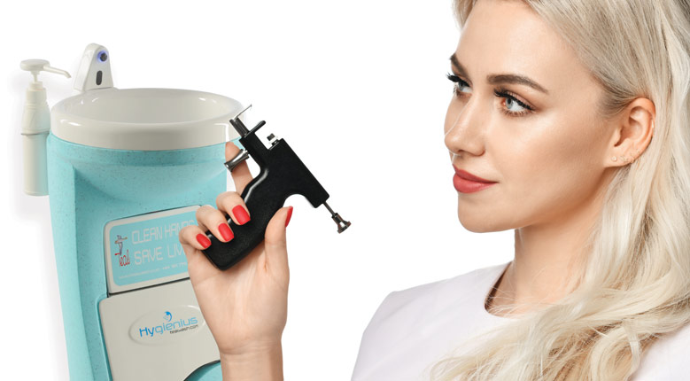 Portable hand wash units for the beauty industry
