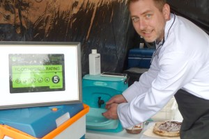 5 star hygiene rating for Perfect Pizze helped by Teal mobile sink