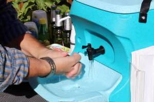 Hand washing with soap and water is crucial for hepatitis A control