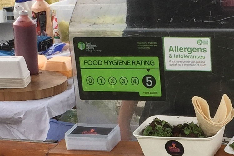Teal portable sinks help attain a good food hygiene rating