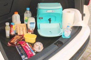 Teal Portable handwash units for tailgating