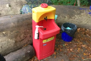 KiddiSynk enables children to wash their hands outdoors at Abbey Forest School
