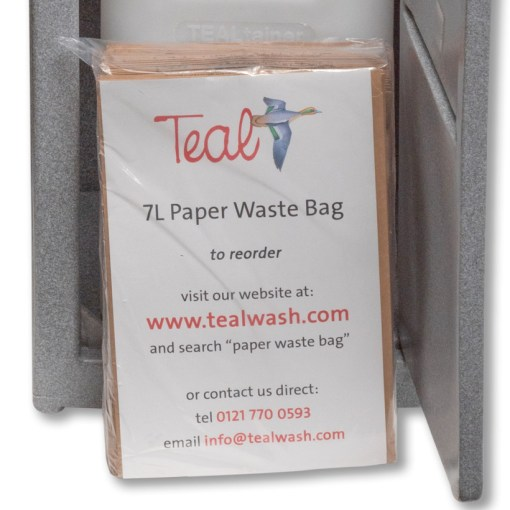 Waste bag for portable hand wash unit