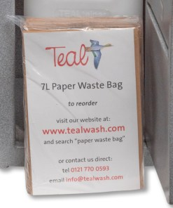 Waste bag for portable hand wash unit