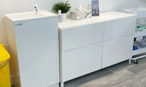 The Teal HandSpa handwash unit needs no water supply