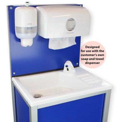 CliniWash mobile handwash unit with soap and towels dispenser