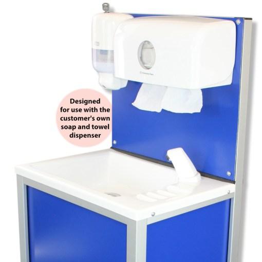 CliniWash mobile handwash closeup view