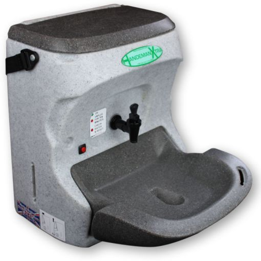 The HandeMan Xtra 230V hand wash unit is highly portable