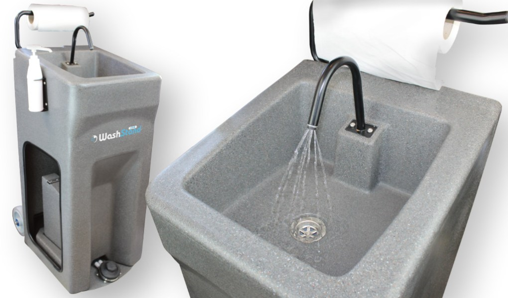 The new Teal WashStand Xtra mobile handwash unit