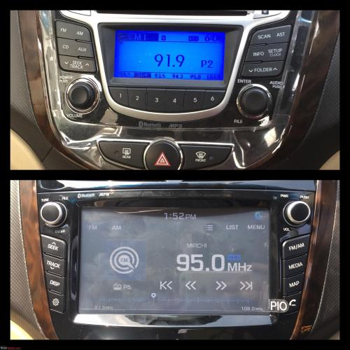 small resolution of hyundai fluidic verna upgraded to oem head unit with touchscreen navigation more