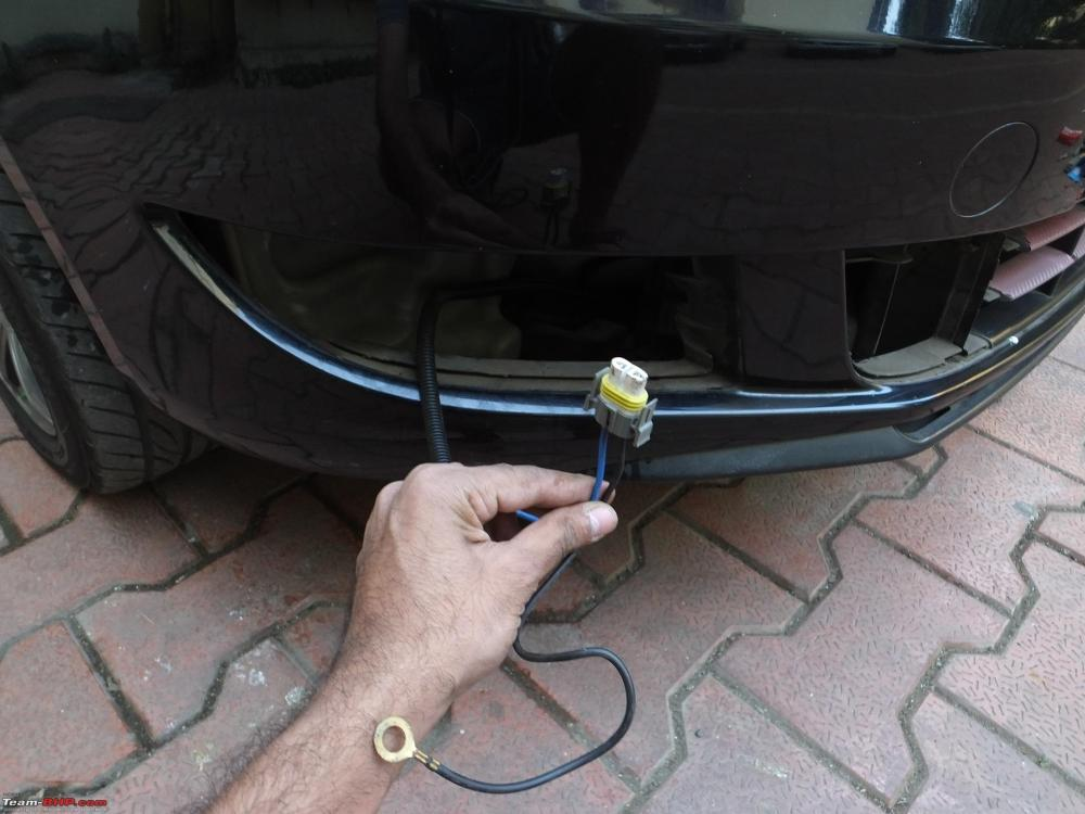 medium resolution of diy skoda fabia foglamp installation wire routed jpg