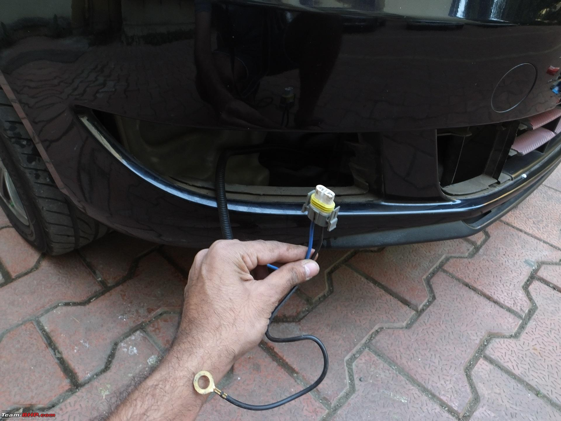 hight resolution of diy skoda fabia foglamp installation wire routed jpg