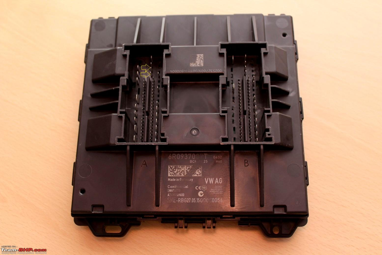 hight resolution of vw polo diy upgrading the bcm body control module img 1215p png