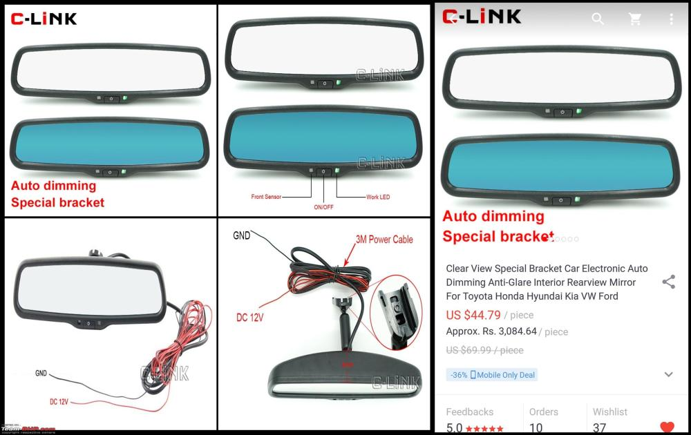 medium resolution of diy install auto dimming irvm anti glare orvms 1