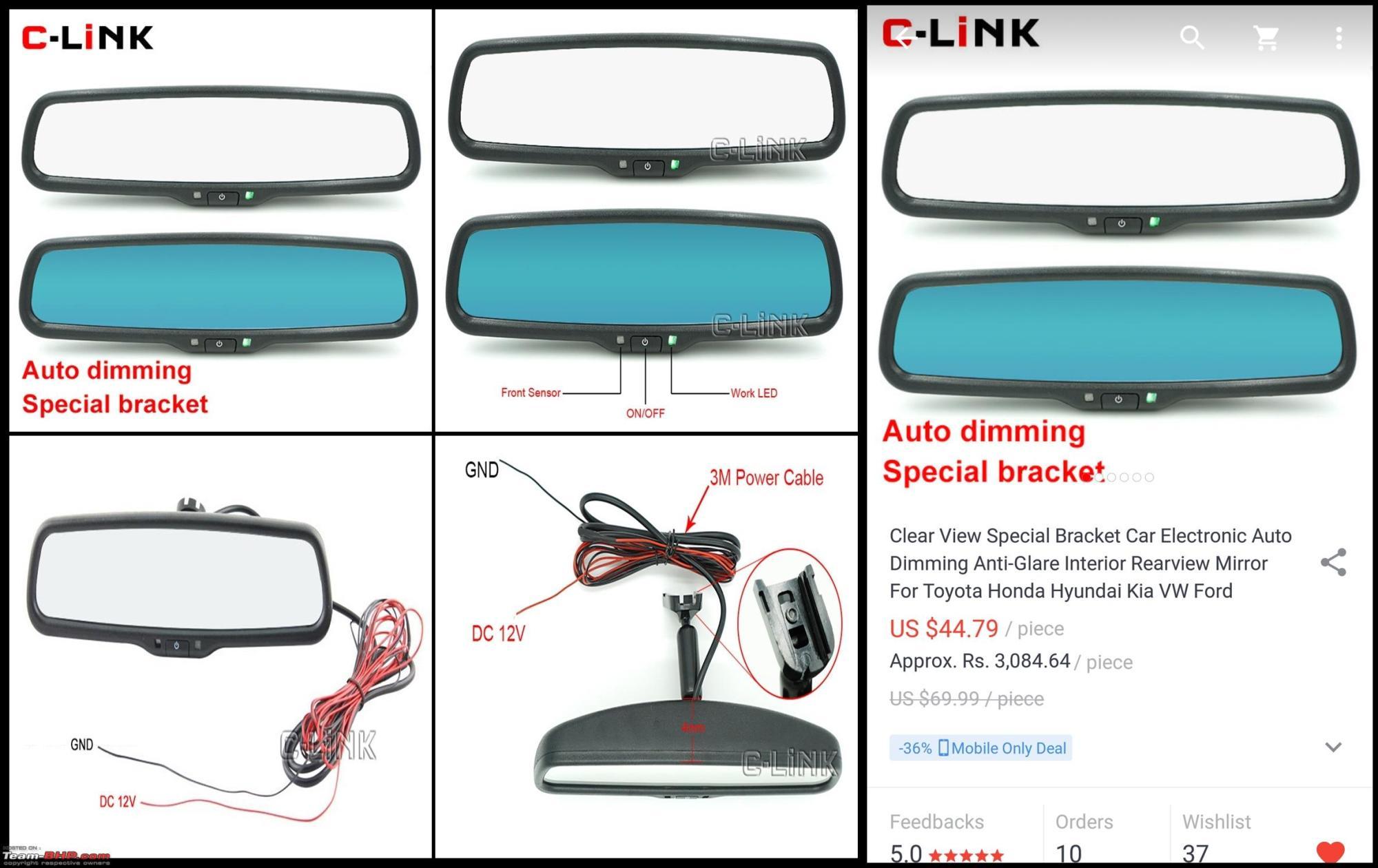 hight resolution of diy install auto dimming irvm anti glare orvms 1