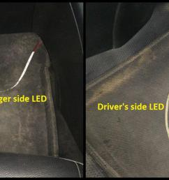 d i y install led footwell lighting 11 led strips kept  [ 1950 x 740 Pixel ]