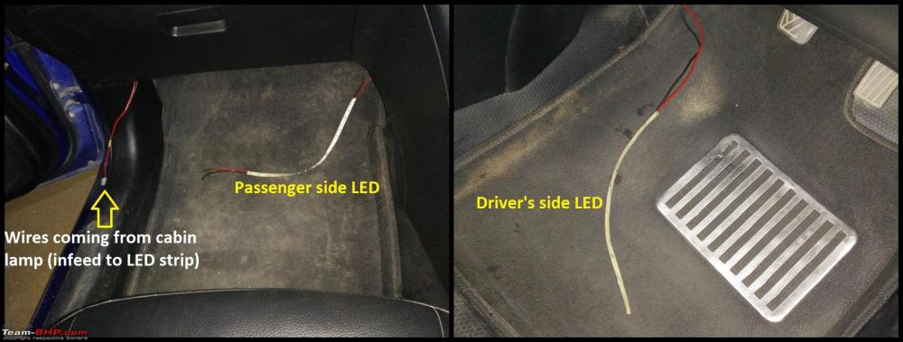 medium resolution of d i y install led footwell lighting 11 led strips kept