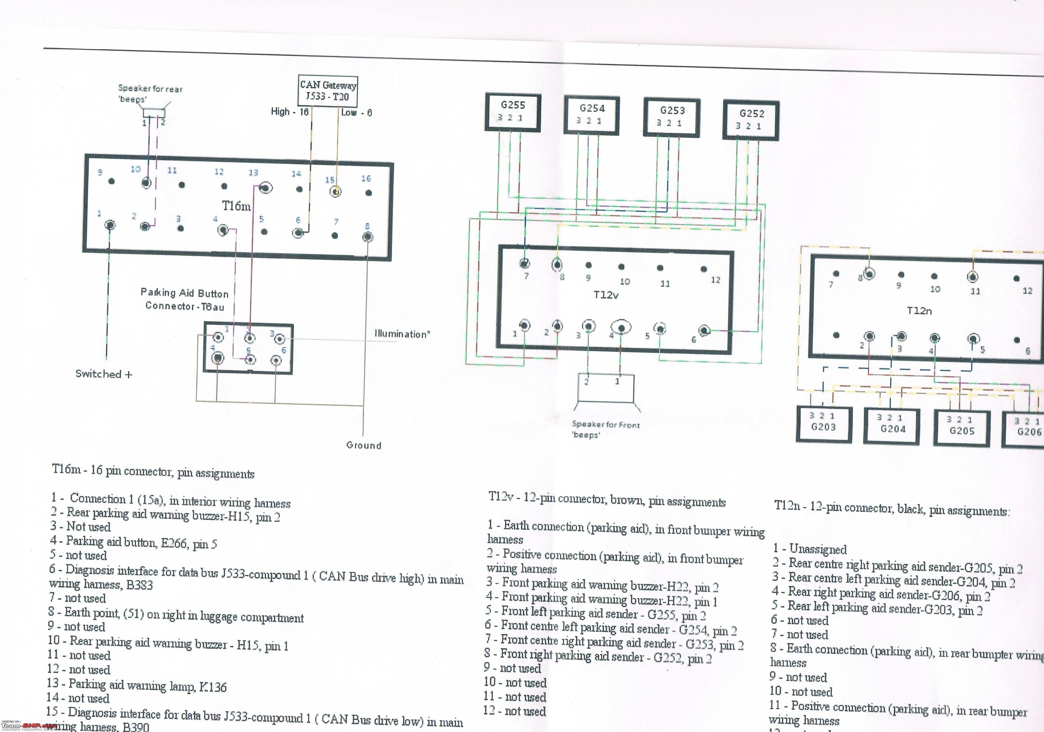vw polo wiring diagram 7 pin flat trailer toyota diy installing ops optical parking system in the