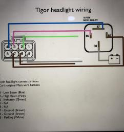 installed tigor projector headlamps on the tata tiago img 7777 jpg a simple wiring schematic  [ 4032 x 3024 Pixel ]