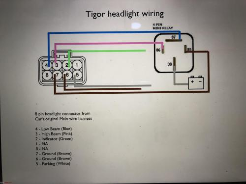 small resolution of installed tigor projector headlamps on the tata tiago img 7777 jpg