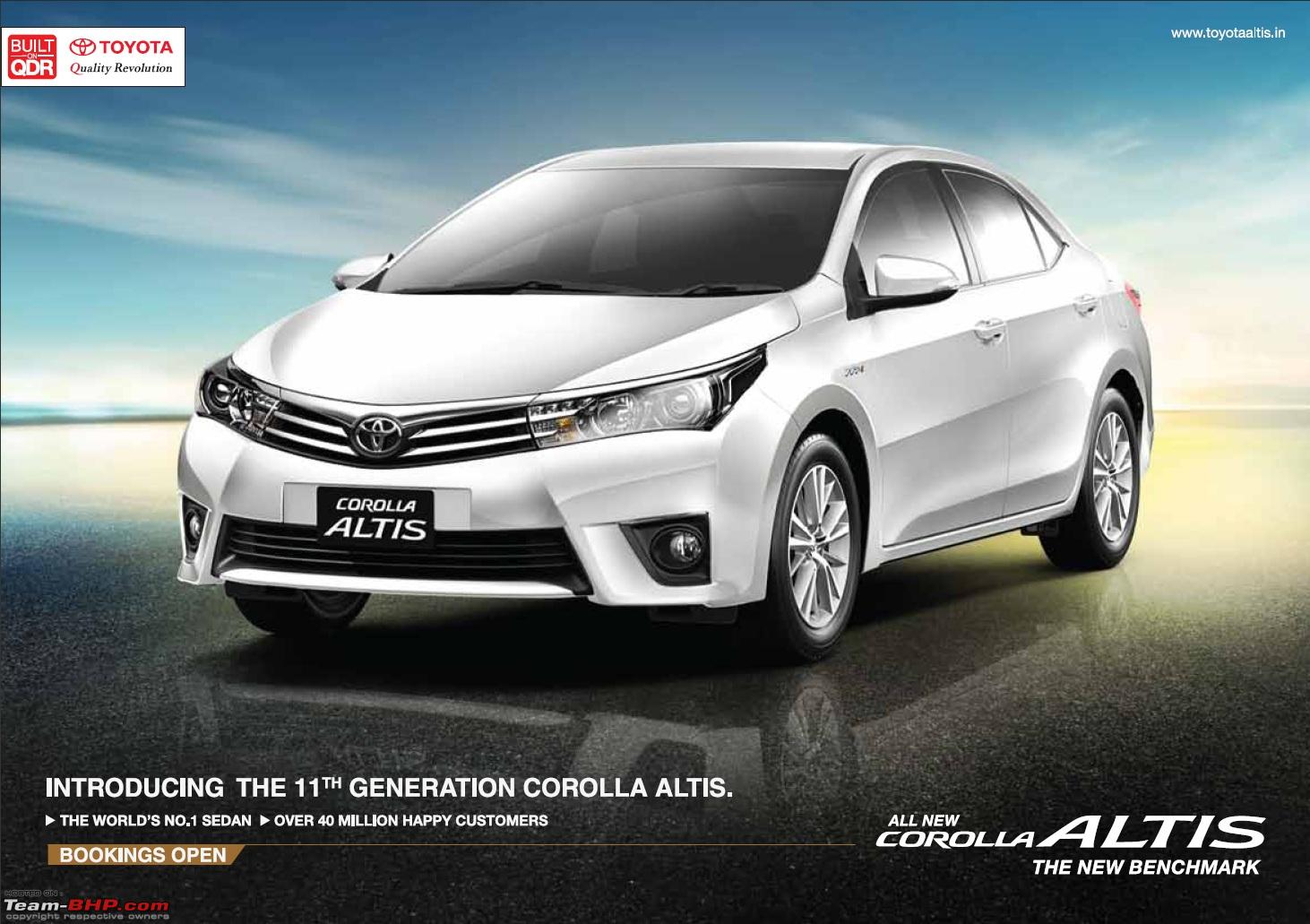 new corolla altis launch date in india buku panduan all kijang innova team bhp of and by mid 2015