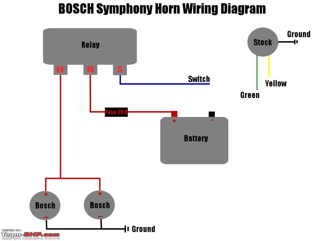Three Wire Horn Relay | Wiring Diagram on