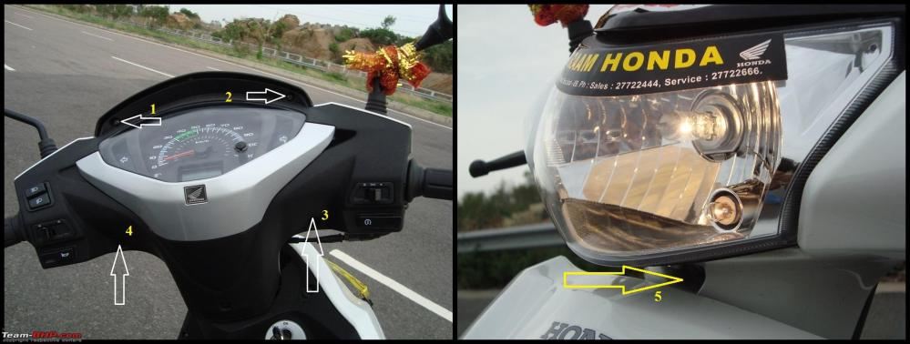 medium resolution of honda activa diy headlight upgrade and leds for indicators tail lamps 2