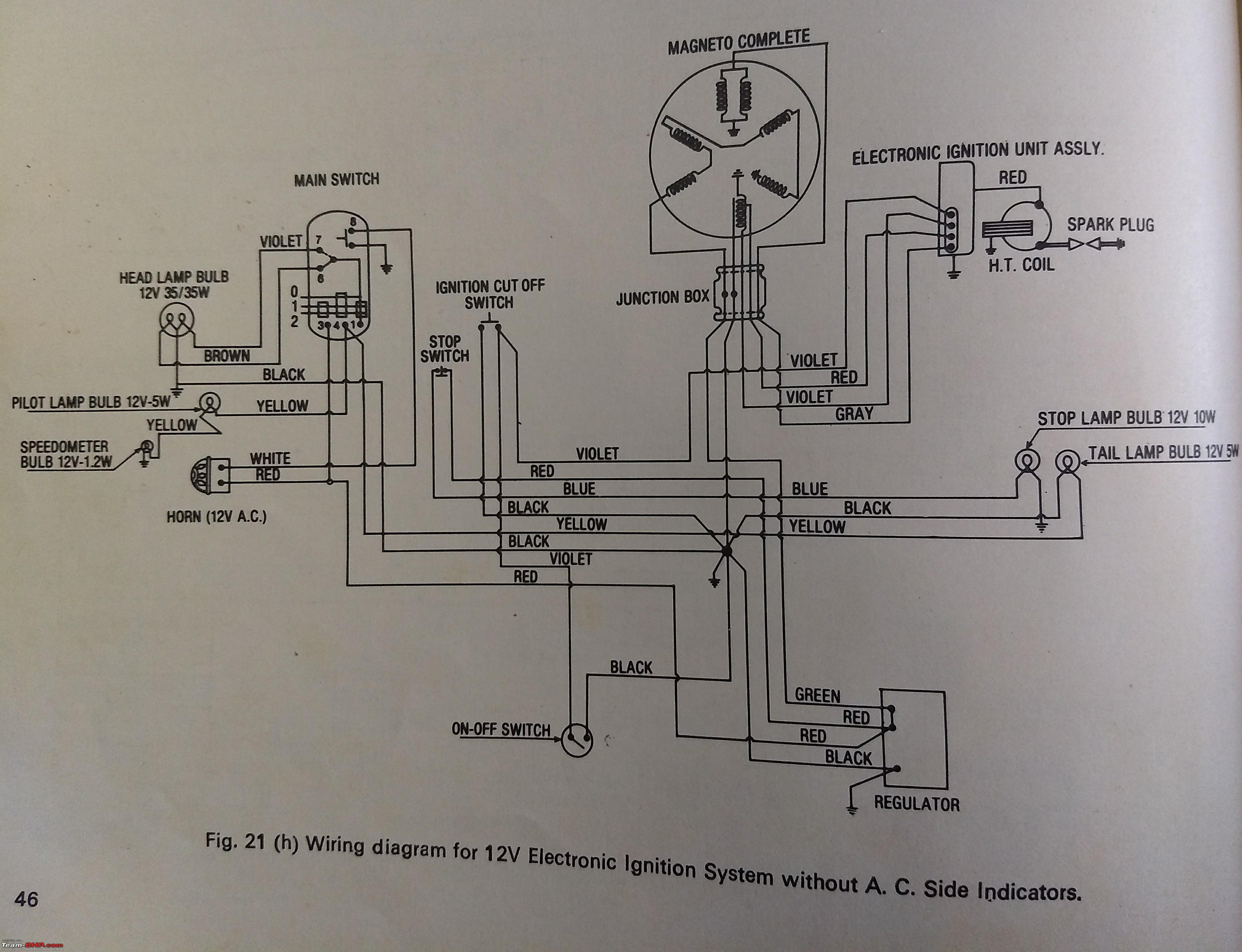house wiring diagram india 24 volt diagrams of indian two wheelers team bhp