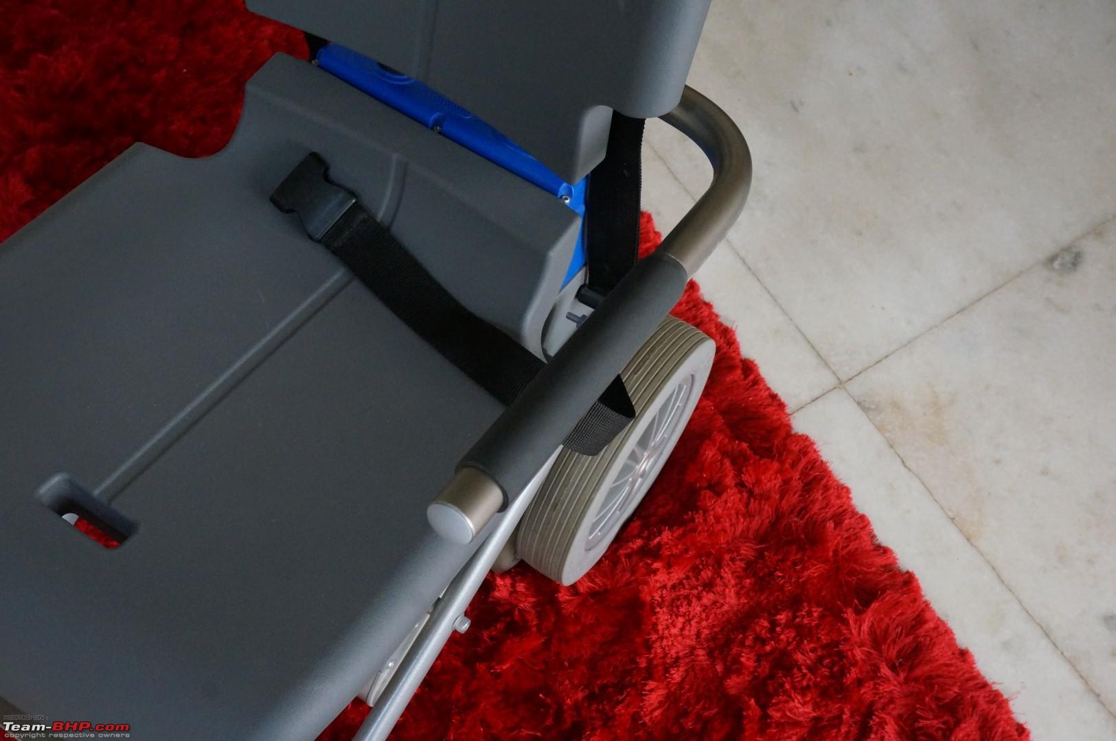stair climbing chair with chrome steel legs team bhp senior citizen mobility