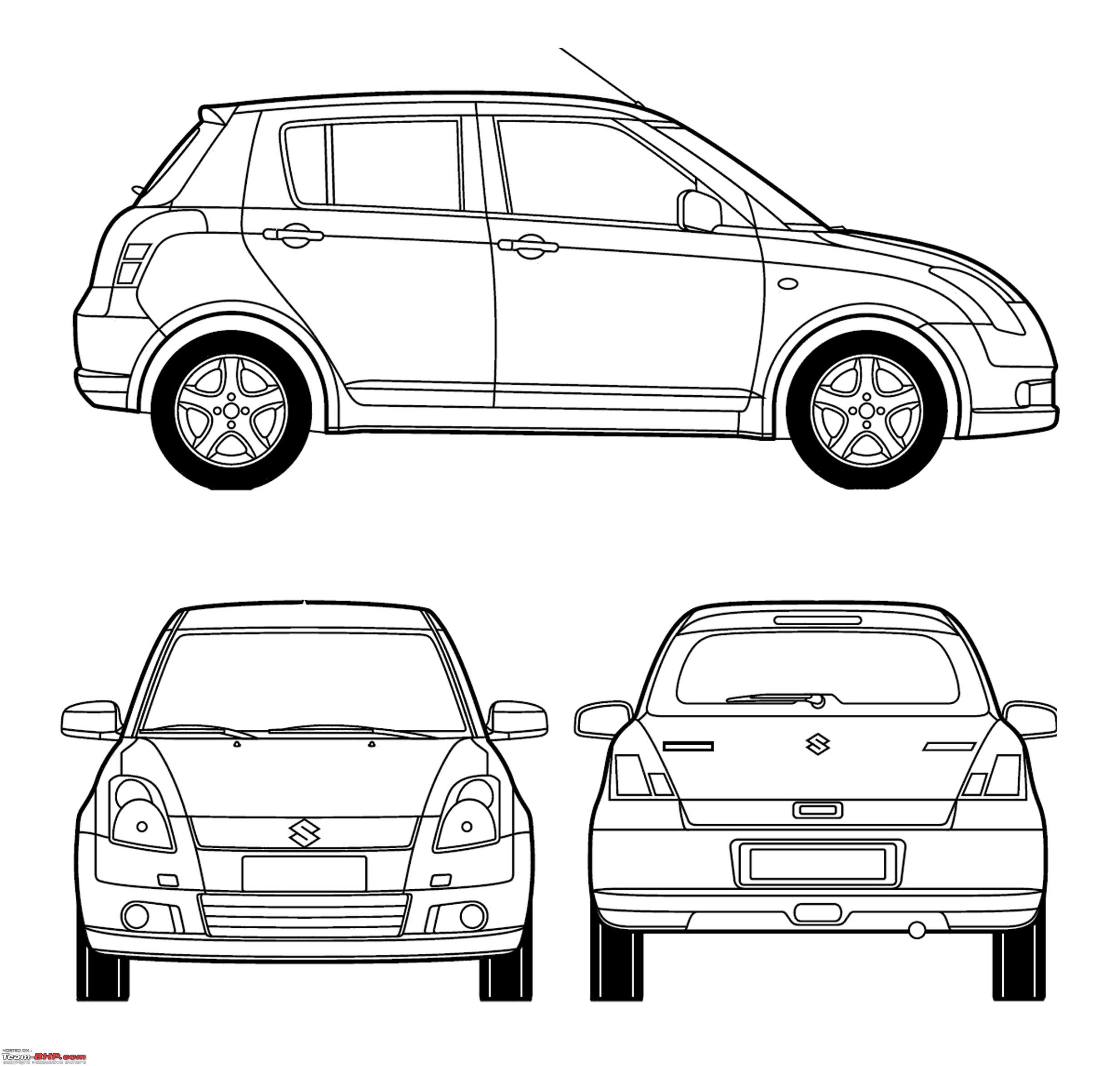 Blueprints Line Drawings Of Cars