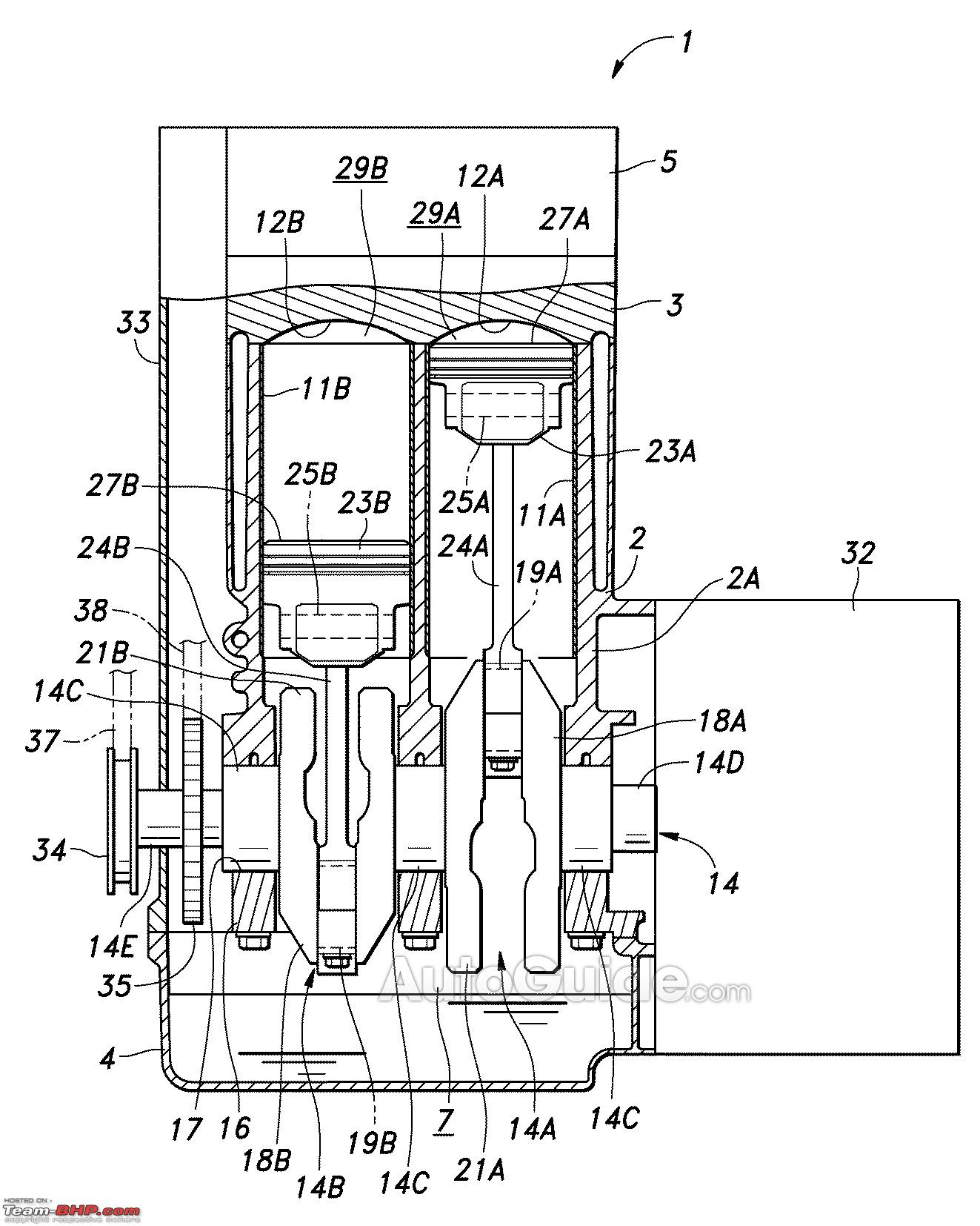 Honda Patents Engine With Variable Piston Strokes Exlink