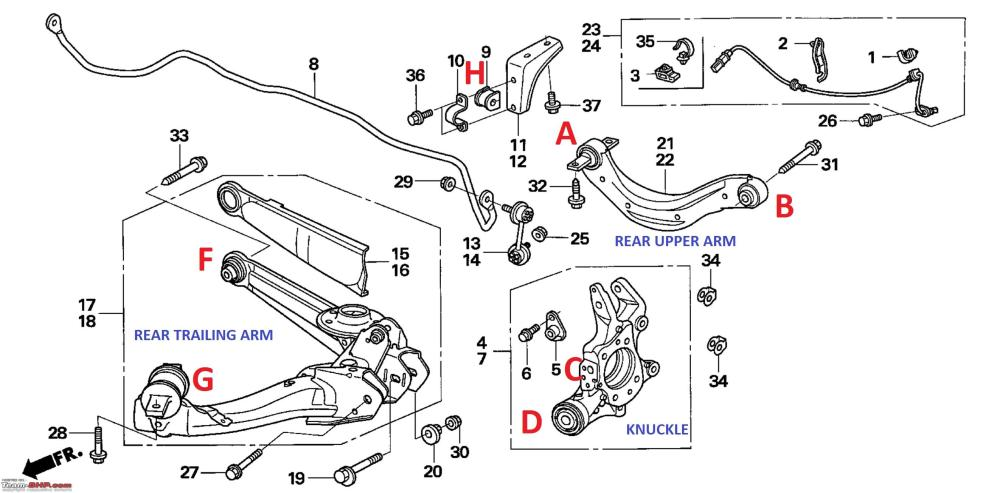 medium resolution of pictorial rear suspension check bush replacement on my honda civic rear suspension