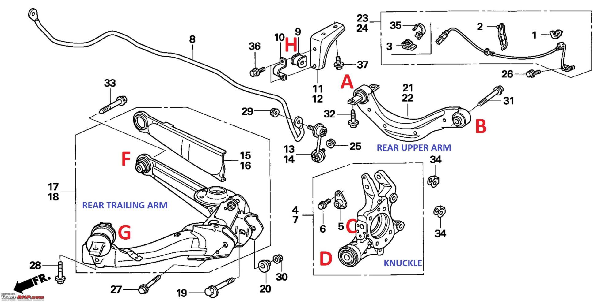 hight resolution of pictorial rear suspension check bush replacement on my honda civic rear suspension
